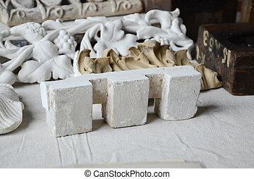 Dentil Cast for Plaster Moulding - Plaster cast for dentil...