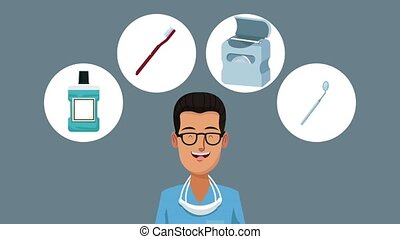 Dentist and dental hygiene HD animation - Dentist cartoon ...