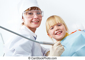 Dentist and girl