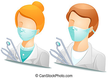 Dentist Avatars - Dentist with Clipping Path