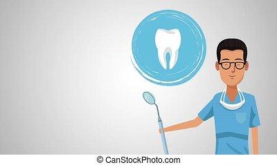 Dentist cartoon and dental hygiene HD animation - Dentist ...