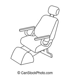 Dentist chair. Medicine single icon in outline style vector symbol stock illustration web.
