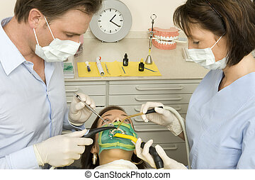 dentist during a treatment