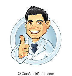 Dentist - dentists smiling thumbs-up