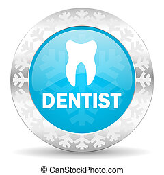 dentist icon, christmas button