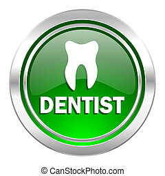 dentist icon, green button