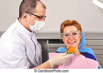 dentist makes an impression