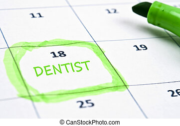 Dentist mark - Calendar mark  with Dentist