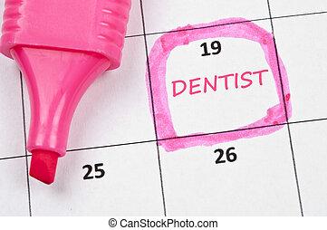 Dentist mark - Calendar mark  with Dentist