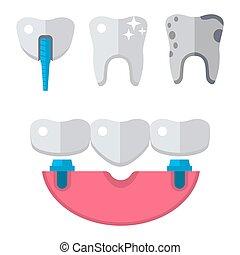 Dentist medical vector tools icons health care medicine...