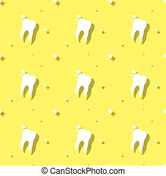 Dentist Molar Tooth Care Seamless Background