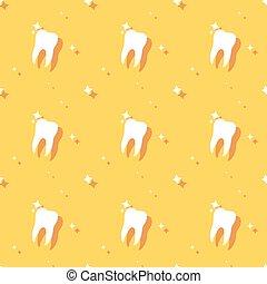 Dentist Molar Tooth Hygiene Seamless Background