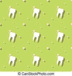 Dentist Molar Tooth Hygiene Seamless Pattern