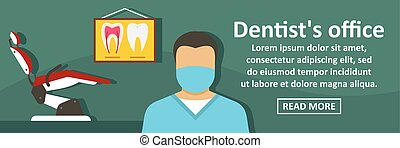Dentist office banner horizontal concept