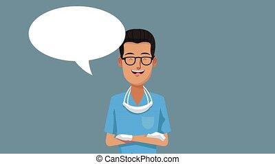 Dentist talking cartoon HD animation - Dentist cartoon with...