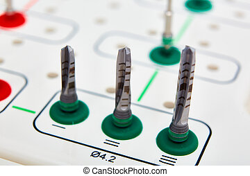 Dentist tools on the table. Sallow dof. - Dentist tools on ...