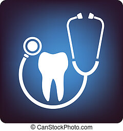 Dentist - Tooth in the stethoscope