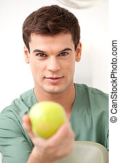Dentist with Apple