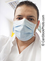 dentist with mask