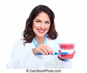 Dentist woman.