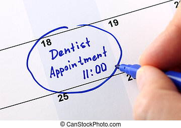 dentista, appuntamento