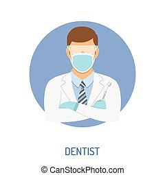 dentista, concetto, dottore