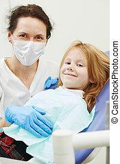 dentista, dottore, bambino