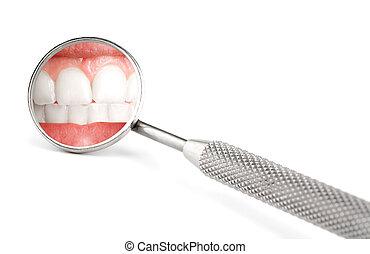 dentista, espejo
