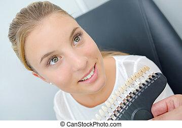 dentista, mujer
