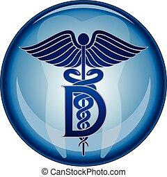 dentista, simbolo medico, bottone