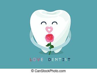dentiste, amour, dent