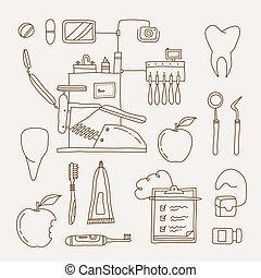 dentiste, icône