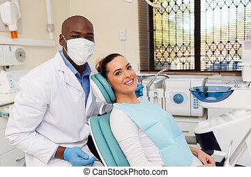 dentiste, patient, bureau