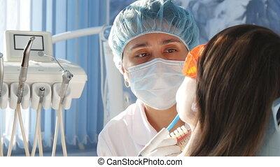 dentiste, travail, bureau