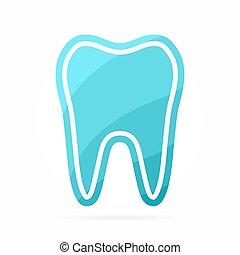 dentiste, vecteur, logo., dent, icône