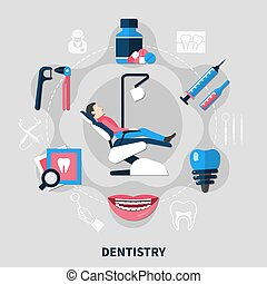 Dentistry Flat Design Concept