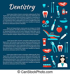 Dentistry infographics with dental care icons