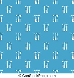 Dentistry tool pattern vector seamless blue