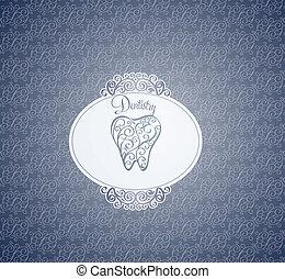 Dentistry wallpaper design. Interesting ornamental design....