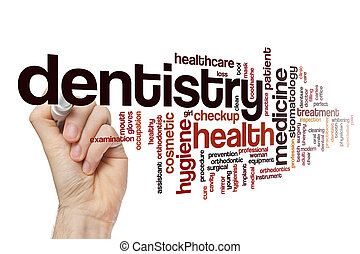 Dentistry word cloud