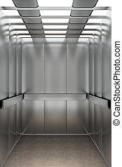 dentro, ascensore