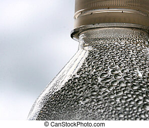 dentro, condensación, botella