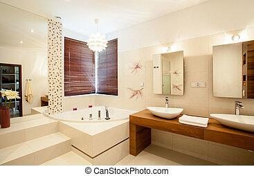 dentro, cuarto de baño