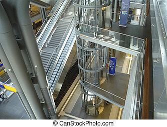 dentro, estación, berlín central