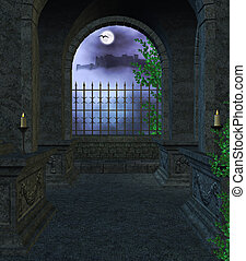dentro, mausoleo
