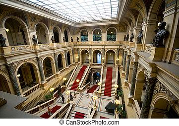 dentro, museo, nacional, praga