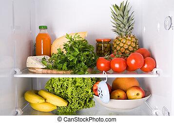 dentro, refrigerador