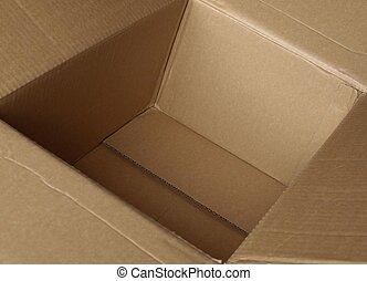 dentro, um, caixa