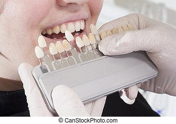 dents blanches, dentiste, choisir