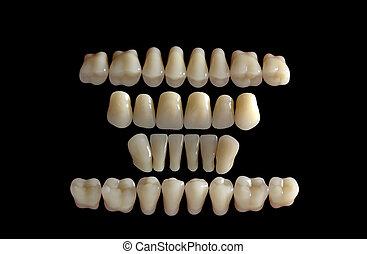 Close-up detail of human dents